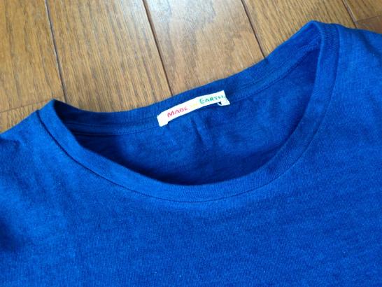 天然灰汁発酵建て本藍染めTシャツ