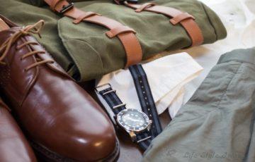 ガストンルーガ「クラシック」と靴、時計