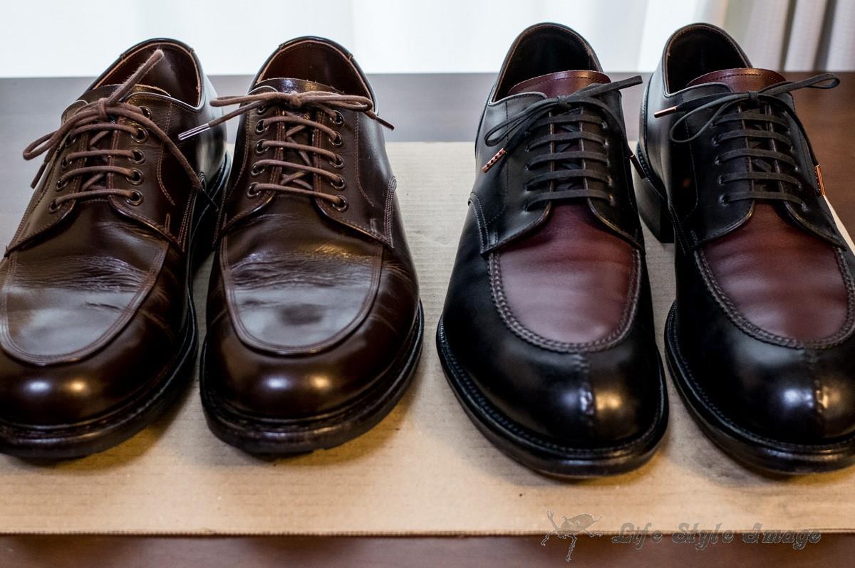 三交製靴ラギッドシューズと和創良靴
